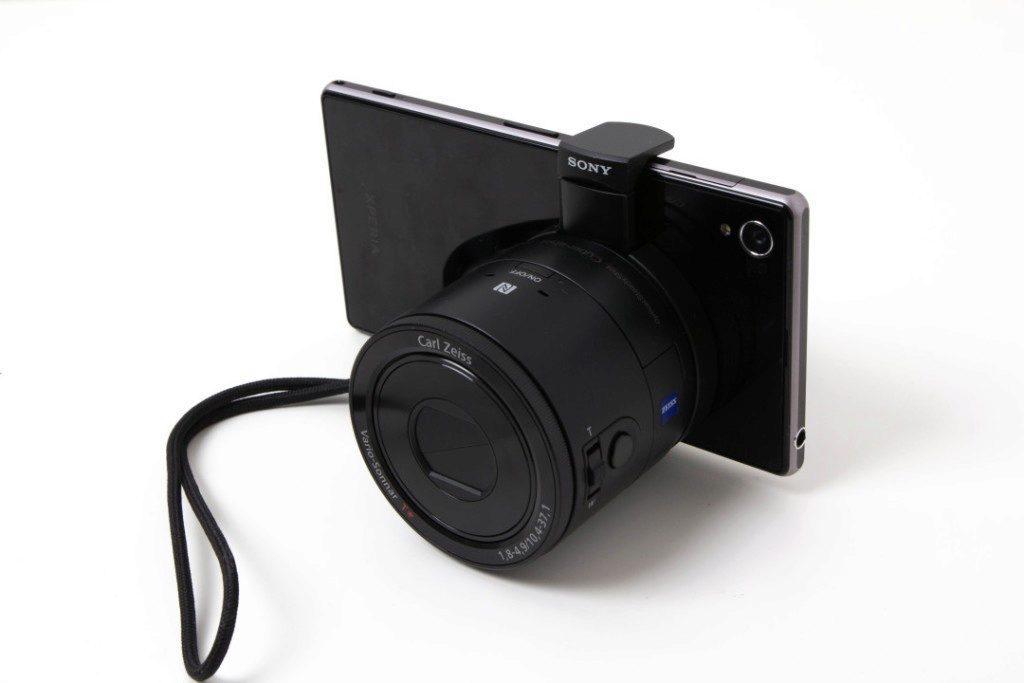 Sony QX100 s telefonem
