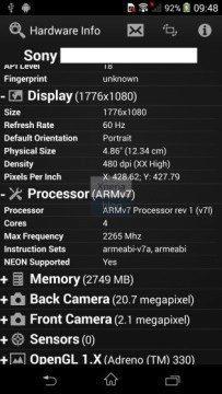 Sony Xperia D6503 Sirius