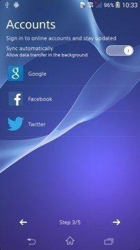 Sony Xperia D6503 Sirius - snímek obrazovky