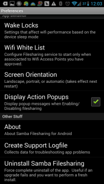 Samba Filesharing for Android