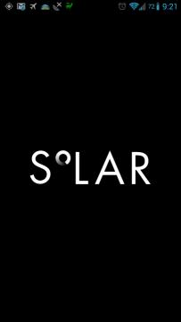 Solar: úvodní animace