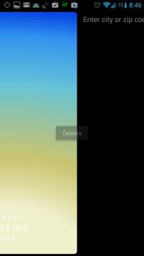 Na obrazovce zcela vpravo je možné přidávat další místa