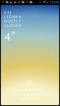 Zobrazení aktuálního počasí