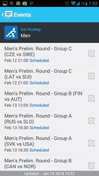 Sochi 2014 WOW: program utkání