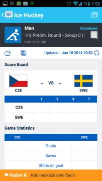 Sochi 2014 WOW: informace o zápase