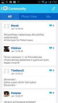 Sochi 2014 WOW: komunita aplikace