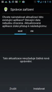 Manuální instalace Správce zařízení Android 1.1.7