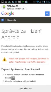 Správce zařízení Android 1.1.7