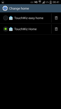 Snímek obrazovky z Androidu 4.4 KitKat pro Samsung Galaxy S4