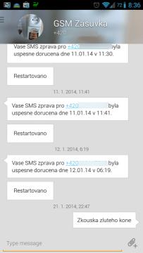 Aplikace načte poslední konverzaci
