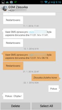 Dávkové mazání SMS