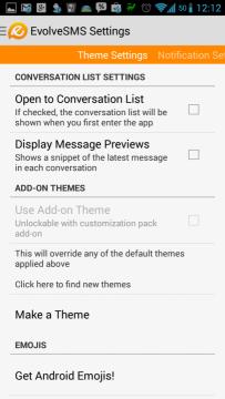 Možnosti Theme Settings