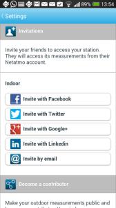 NetAtmo - pozvánky