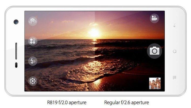 Oppo R819 fotoaparát
