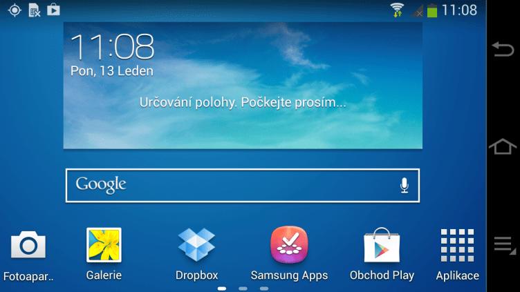 Samsung Galaxy NX - domovska obrazovka