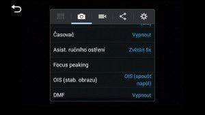 Samsung Galaxy NX - nastavení fotoaparátu 2