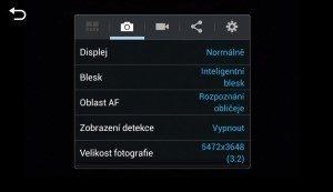 Samsung Galaxy NX - nastaveni fotoaparátu