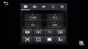 Samsung Galaxy NX - rychlé nastavení