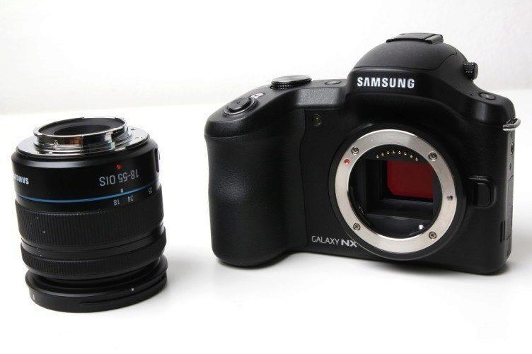 Samsung Galaxy NX s objektivem