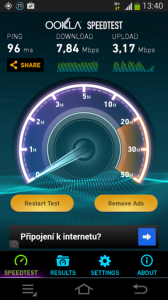 Samsung Galaxy NX - test mobilnich data 1