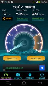 Samsung Galaxy NX - test mobilnich data 2