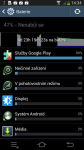 Samsung Galaxy NX - výdrž baterie graf