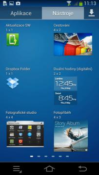 Samsung Galaxy NX - widget 1