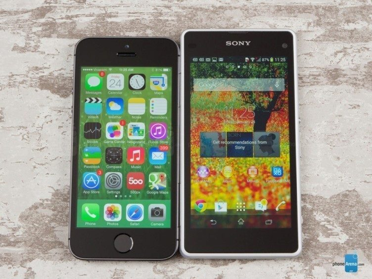 Sony-Xperia-Z1-Compact-vs-Apple-iPhone-5s-PhoneArena