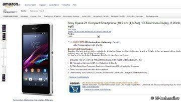 Sony Xperia Z1 Compact v nabídce Amazon.de