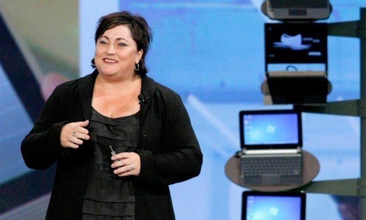 Prezidentka společnosti Intel Renée J. James během tiskové konference