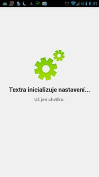 Textra inicializuje nastavení