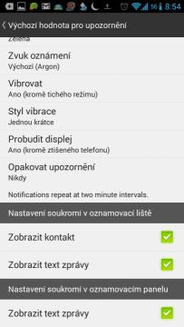 Nastavení upozornění na nové SMS