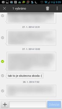 Režim práce s více SMS současně