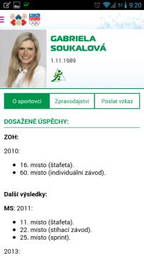 ZOH 2014: informace o sportovci