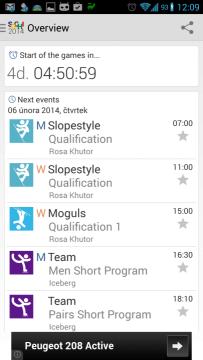 2014 Sochi Winter Games: kalendář událostí