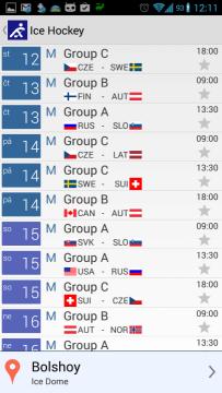 2014 Sochi Winter Games: kalendář zvoleného sportu