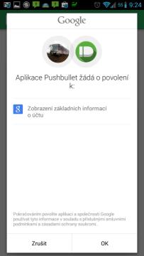 Aplikace žádá o přístup k základním informacím