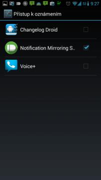 Povolení přístupu k oznámením službě Notification Mirroring Service