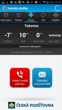 Horská služba: volání pomoci a odeslání SMS