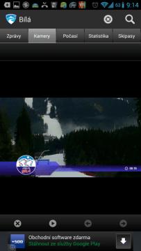 Sníh a sněhové zpravodajství: pohled z webkamery