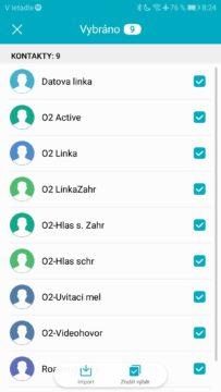 import kontaktů ze SIM