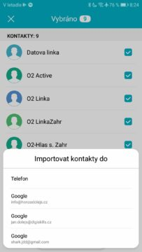 Android kontakty na SIM