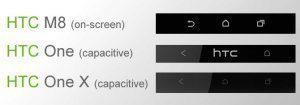 Vývoj tlačítek na telefonech HTC