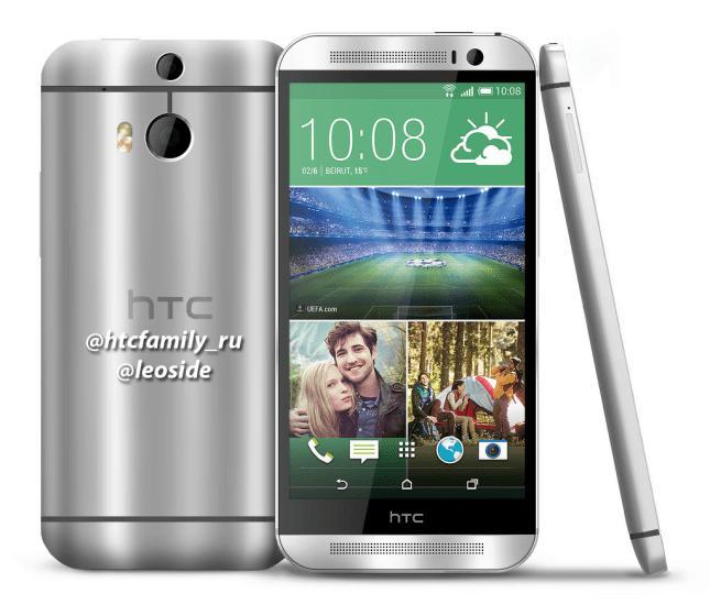 Jeden z renderů HTC M8