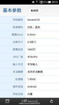 Telefon Huawei Ascend D3 dostane osmijádrový čip HiSilicon