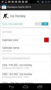 Sochi 2014 Schedule (oCals)
