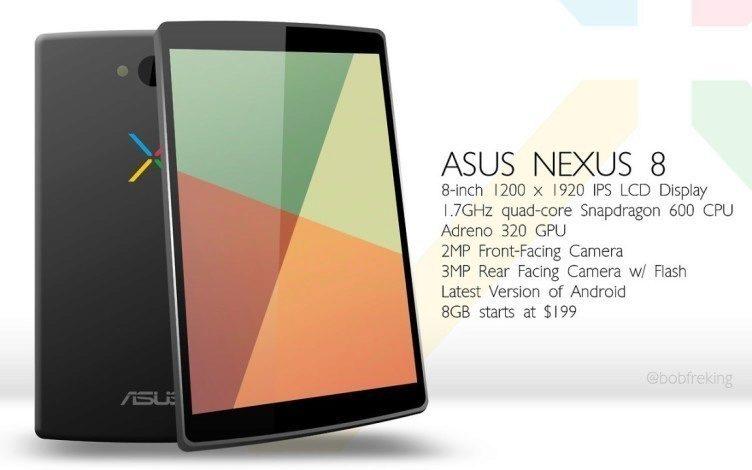 Spolu s novou verzí systému bude uveden osmipalcový tablet Nexus 8