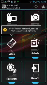 Představení uživatelského rozhraní aplikace
