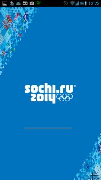 Sochi 2014 Results: úvodní obrazovka
