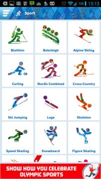 Sochi 2014 Results: sportovní disciplíny